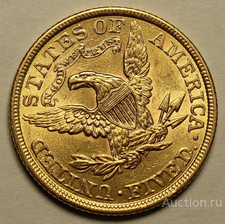5 Долларов 1900 год. США. Золото 900 пробы - 8.359 грамм. Редкая!!!