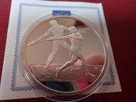 Греция 10 евро 2004 ПРУФ . Олимпиада-2004 в Афинах .ОРИГИНАЛ !!СЕРЕБРО . / Я 510