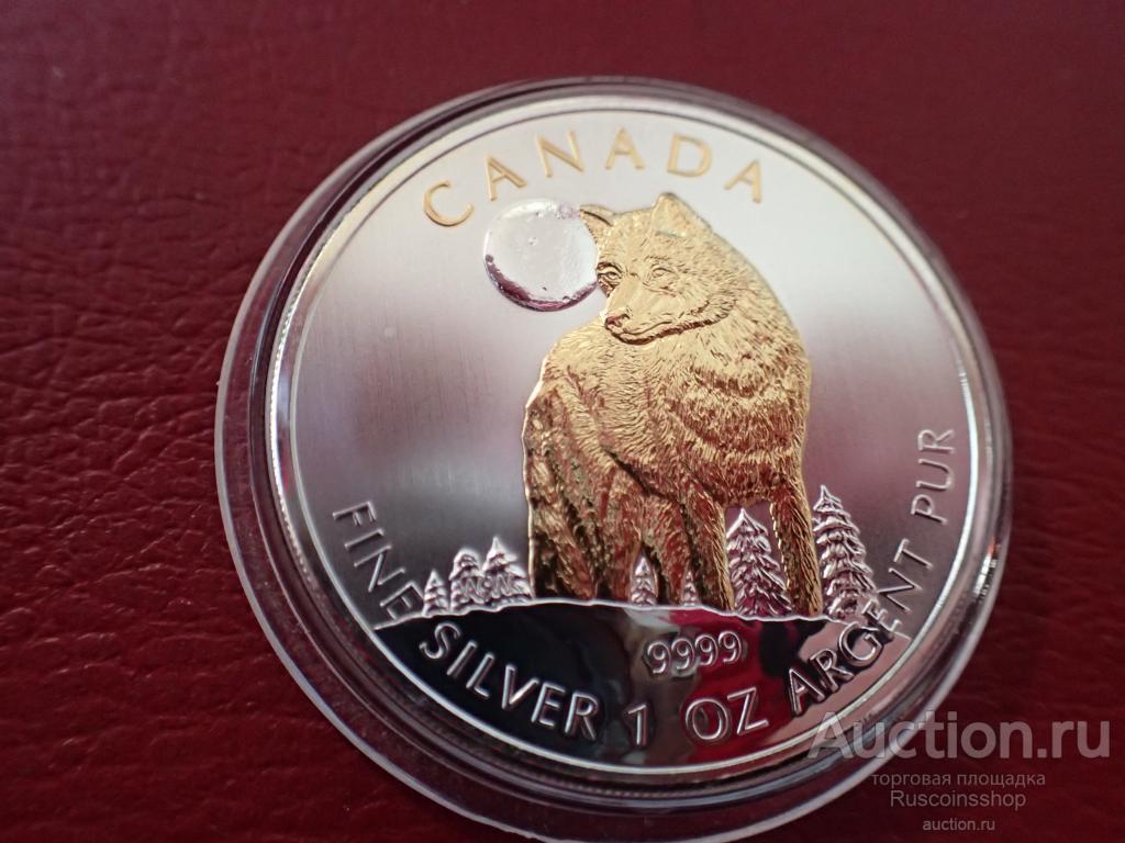Канада 5 долларов 2011 год,  с позолотой.  Дост до 1,5 месяца ОРИГИНАЛ СЕРЕБРО/ L 143