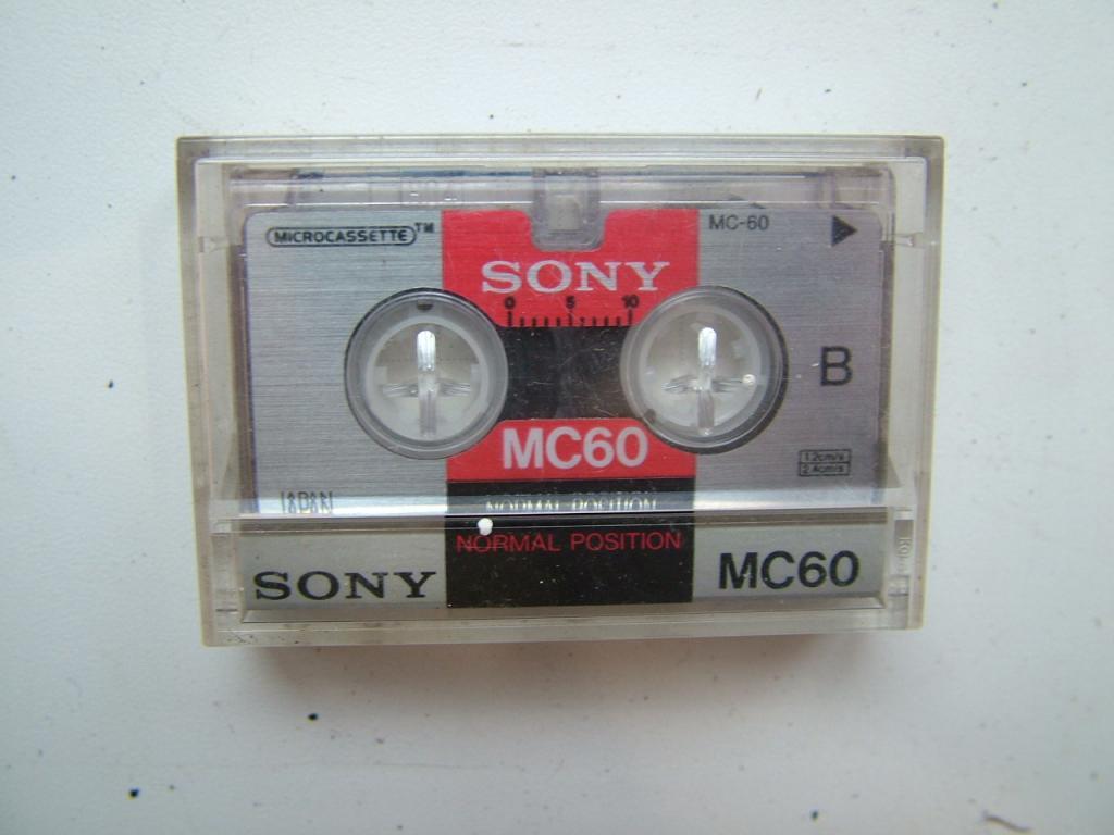 Микрокассета. SONY MC-60.