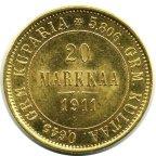 20 МАРОК 1911 года, L. Золото 6,45 г. Сохранность UNC.  АУКЦИОН ОТ 1 РУБЛЯ_ЕСТЬ ЕЩЕ!