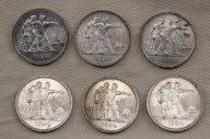 Шесть монет 1 рубль 1924 серебро СССР UNC превосходные !!!