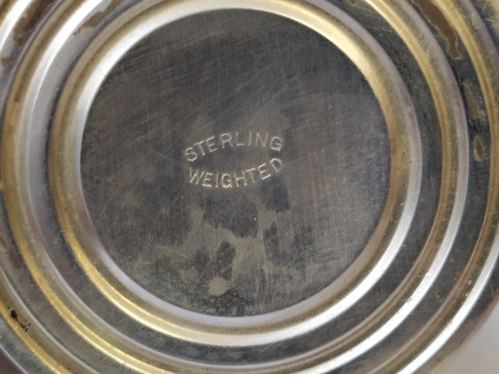Серебряные сливочник и сахарница. Sterling. Вес 193 грамма.