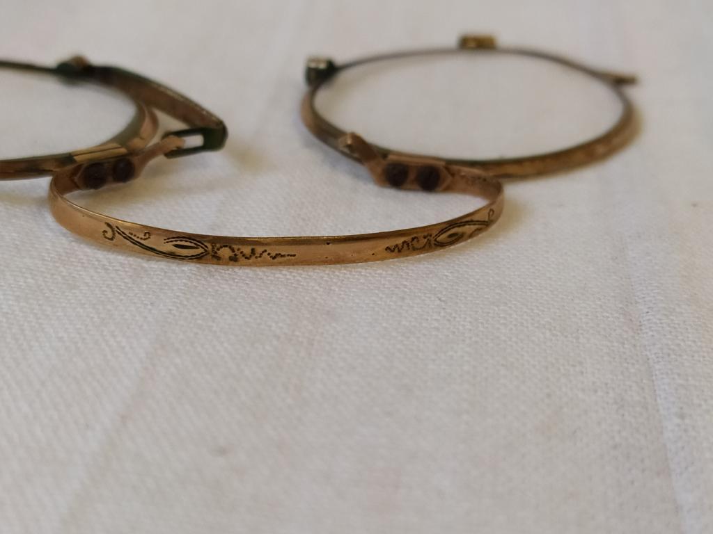 Позолоченные очки-пенсне. Старинные со стеклами