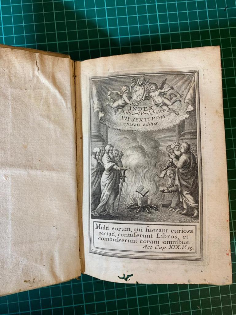 Индекс запрещённых книг (лат. Index Librorum Prohibitorum) 1786 год