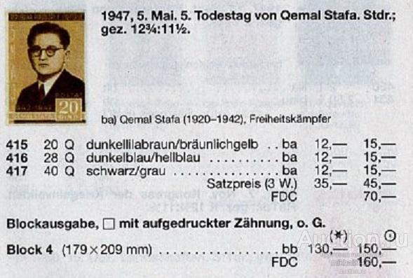 М1341 2-я Мировая Война ВОВ WWII WW2 Партизаны Сражения 1947 Албания Блок б/з ** 130МЕ
