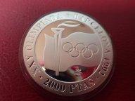 Испания 2000 песет Олимпиада Барселона 1992 ПРУФ СПОРТ  .ОРИГИНАЛ !!СЕРЕБРО . / Я 688