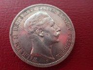 Германия Пруссия 3 марки 1909 (А) Вильгельм II   .ОРИГИНАЛ ! СЕРЕБРО ! / Я 880