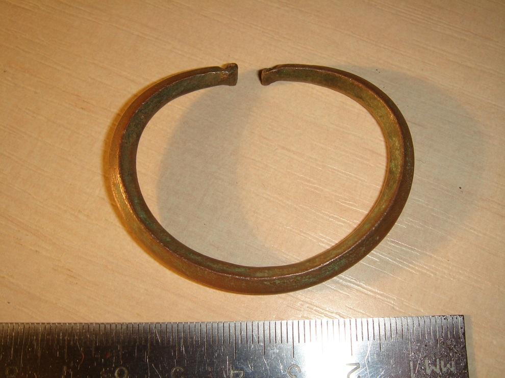 Старинный, бронзовый браслет, из Сибири, Малые народы