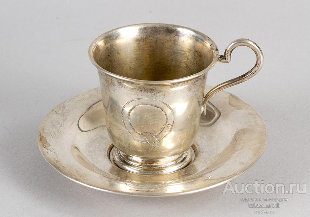 Набор чашек с блюдцами.Сервиз. Чашки,блюдца.6 пар. Полный комплект.19 век Австро-Венгрия. 750 грамм
