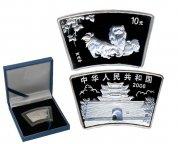 """Серебряная монета 10 юаней 2006 """"Год Собаки. Пекинесы"""", Китай, Proof, 1oz, Ag999, С РУБЛЯ!"""