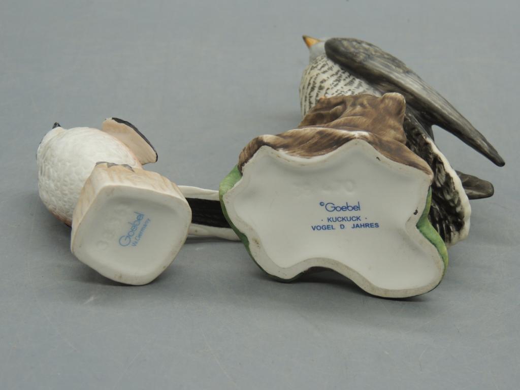 Фарфор Бисквит Пара Красивых Симпатичных Птиц Европа Германия Высота 12 и 6 см С Рубля