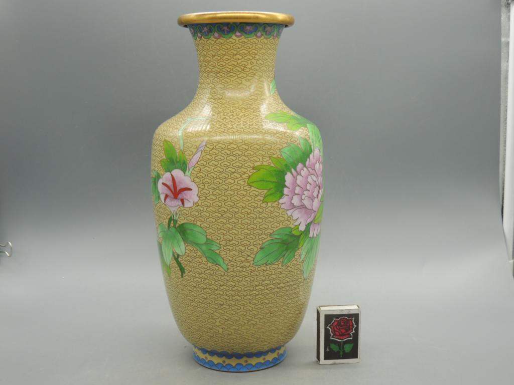 Декоративная Ваза Для Сухих Цветов Клуазоне Китай Высота 30 см С Рубля