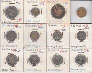 Эквадор...Ассорти монет в коллекцию...С РУБЛЯ...
