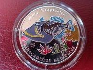 Куба 10 песо 2005 ПРУФ. Спинорог рыба Фауна .  Дост до 1,5 месяца ОРИГИНАЛ СЕРЕБРО/ Z 28