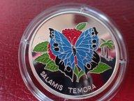Конго 1000 франков  2004 ПРУФ. Бабочка  .ФАУНА.  Дост до 1,5 месяца ОРИГИНАЛ СЕРЕБРО/ Z 27