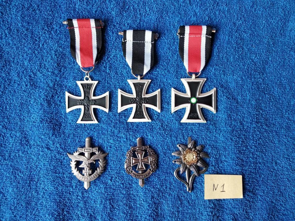 Награды Третьего Рейха. Кресты, Вермахт, Люфтваффе, Эдельвейс. 6 штук в лоте.
