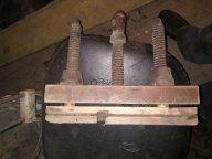 Старинный рубанок шпунтубель деревянные болты