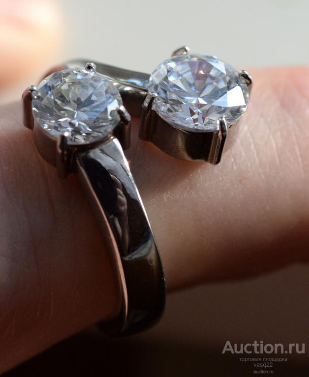 Германия перстень кольцо 17 размер Фиониты красивое