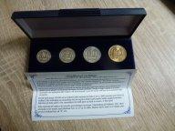 Шпицберген-10,25,50,100 рублей-1993-в редкой коробке+сертификат-unc-ОРИГИНАЛЫ!!!
