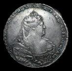 Рубль 1738 Дмитриев с рубля