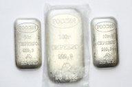 3 Серебряных слитка. 200 грамм. проба 999 проба.
