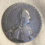 Рубль 1766 год СПБ TI АШ Грубый чекан Биткин R1