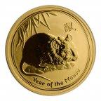 100 долларов 2008 год. Год Крысы. Золото 999. 31.1 грамм. Австралия