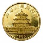 100 юань 1986 год. Панда. Золото 999 пробы! Вес: 31.1 грамм.