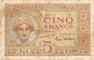 Мадагаскар 5 франков 1937