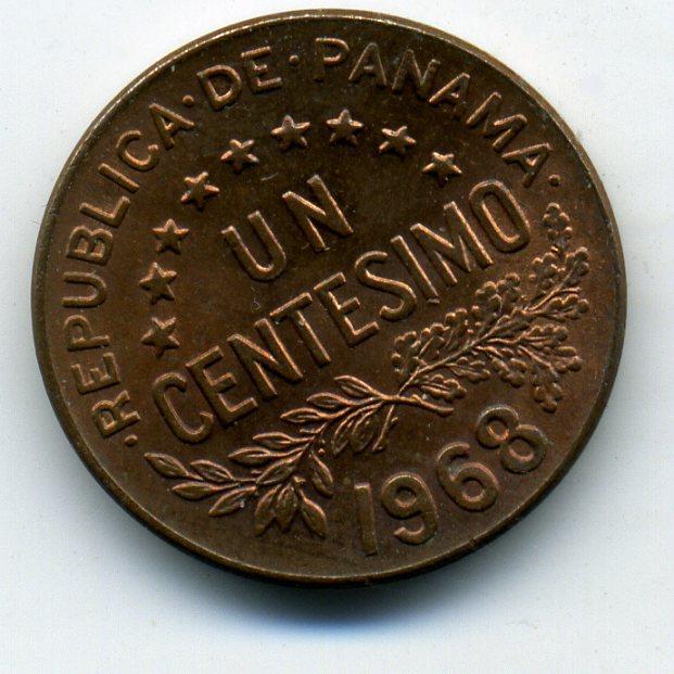 1 сентесимо - Панама - 1968 - Уррака
