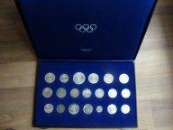 Набор из 20 монет серебро unc Олимпиада в оригинальной кассете-см. Фото.