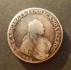 1 рубль 1754 года ММД ЕI . Елизавета I .