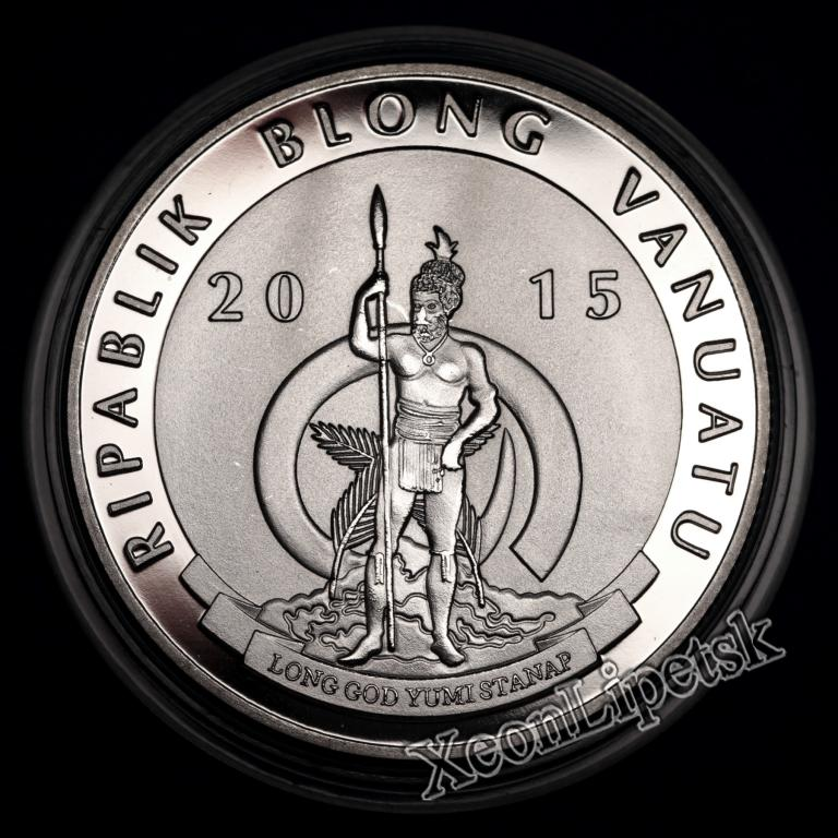 5 вату Вануату 2015 года Турецкая ангора Кошка Фауна Камни Копия монеты посеребрение
