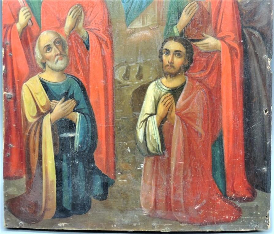Икона Вознесение Христово Дерево Краски Тампера Размер 35Х26 С Рубля