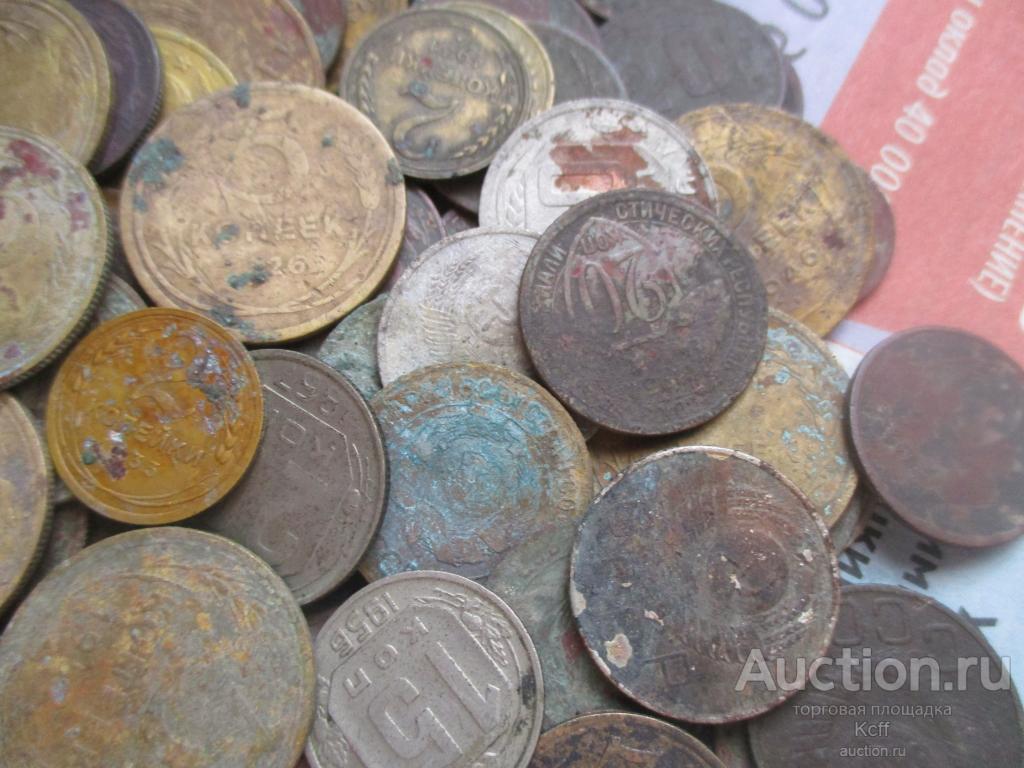 101шт. монет до 1961г. См.фото.