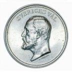 Памятная медаль о короле Швеции. Серебро 900 проба. 23.8 гр