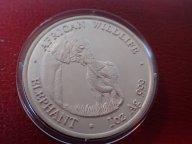 Замбия 5000 квача, 2001 год. СЛОН, СЛОНЫ редкая монета  Дост до 1,5 месяца ОРИГИНАЛ СЕРЕБРО/ Z 67