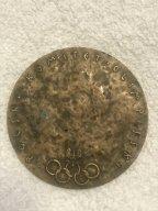 Медаль памятная. Польша. Польский олимпийский комитет. 1980 год. Посвящена Олимпийским играм 1980 г.