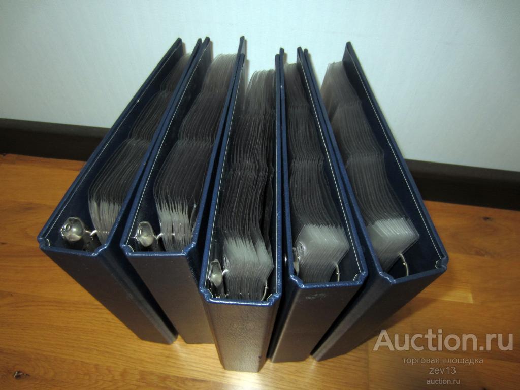 5 альбомов LEUCHTTURM Б\У +листы NUMIS под холдеры...для 1120 монет...
