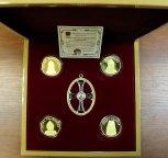 Коллекция из 4-х медалей ГОЗНАКА «Рюриковичи». ММД. Серебро 925 пр. Общий вес: 124,40 гр. Золочение.