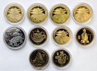 10 монет: 20 вон 2003, 2007, 2010, 2014 год. Корея. Латунь.