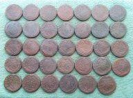 Полная погодовка кладовых пятаков Екатерины 2 ЕМ (1763-1796гг ) 34 отличные монеты !!!