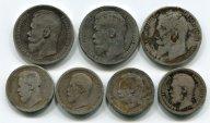 7 монет: 1 рубль 1897(2шт)-1898 год. 50 копеек 1897(2шт), 1895 год, 1899 год. Серебро 97.5 грамм