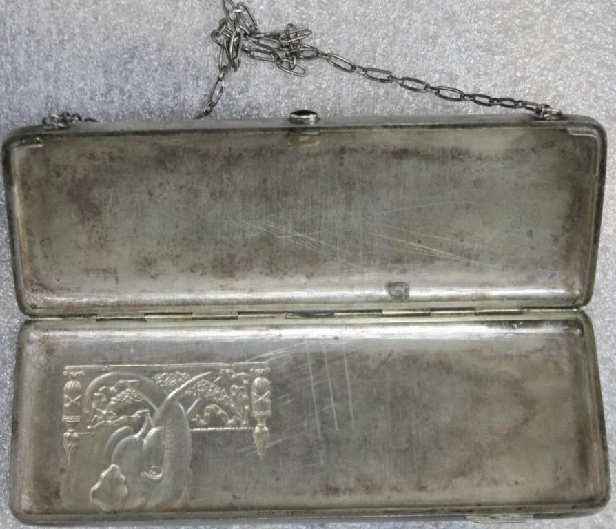 Серебряная дамская сумочка со слоном Серебро 84 пробы 360 грамм Царская Россия до 1917г.