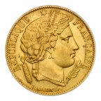 20 франков 1851 год. Хорошее состояние. Золото 900! вес: 6,5 грамм