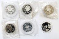 6 монет: 1 рубль 1994-1995 год. Гоголь (3шт), Крылов (2шт), Запайки! + Парад Победы.