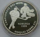 Андорра 10 динер динар 1994 Хоккей Чемпионат мира в Норвегии серебро от 1 рубля за 1 руб