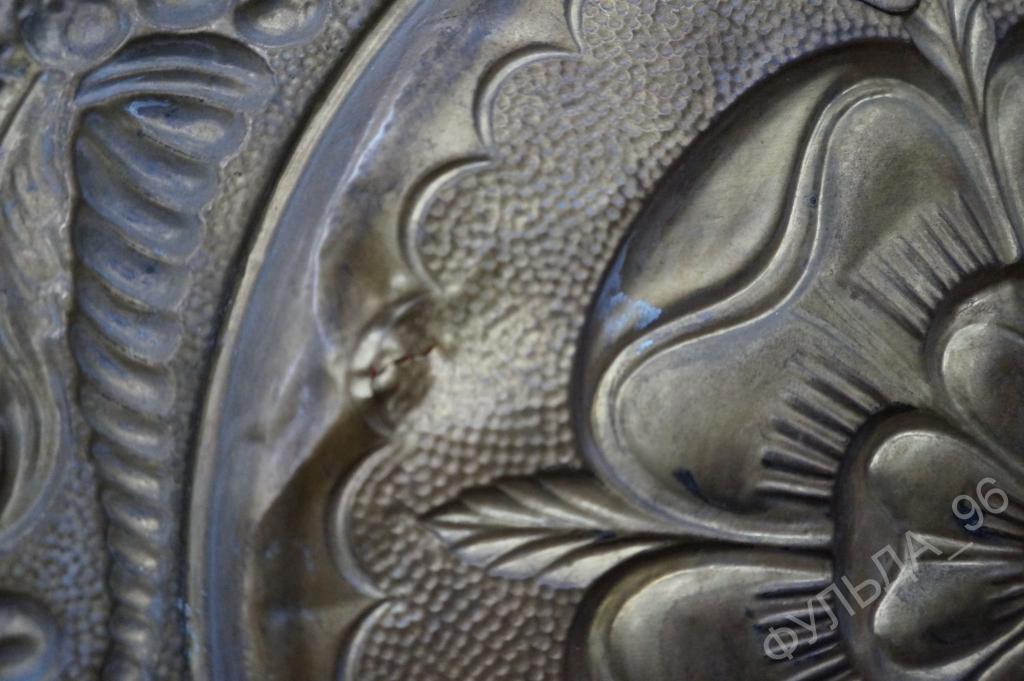 Панно Цветок  Латунь Европа 36,5 см Старое