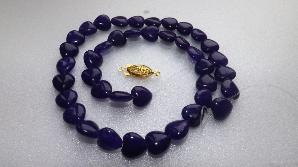 Бусы из натурального (природного) тёмного фиолетово-синего аметиста